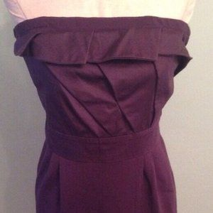 S Purple Deletta stretch strapless Anthropologie